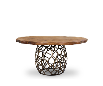 AGRA Marble Dining Table Contemporary Design By BRABBU