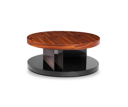 Lallan wood coffee table mid century modern design by brabbu for Latest center table design