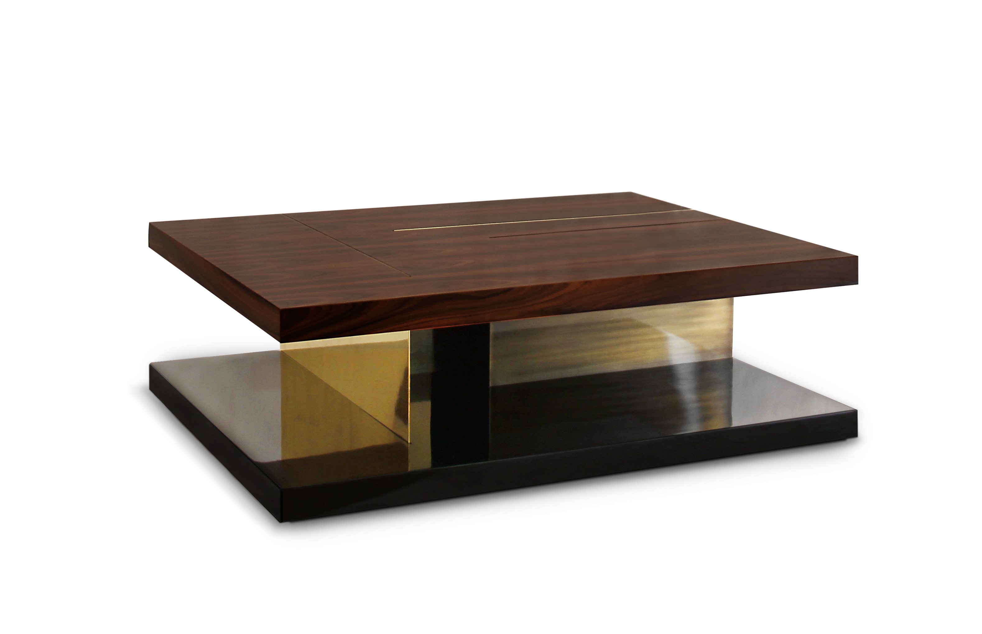 Lallan wood coffee table mid century modern design by brabbu for Table architecture