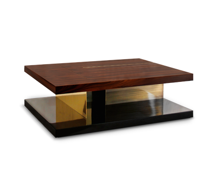Lallan wood coffee table mid century modern design by brabbu for Small centre table designs