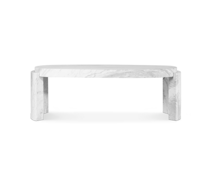 Agra marble dining table contemporary design by brabbu - Modern dining room table png ...