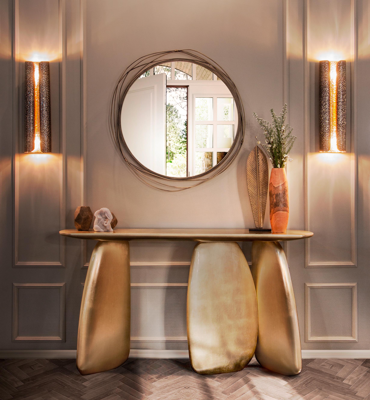 Round Mirror Modern Design By BRABBU