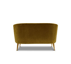 MAYA 2 Seater Mid Century Modern Furniture by BRABBU is perfect to be a center piece as a velvet sofa in a living room set.
