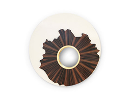 IRIS Round Mirror Modern Design by BRABBU reflects a set of emotions in a modern home decor.