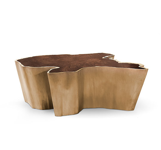 SEQUOIA Brass Coffee Table Modern Design by BRABBU is a living room furniture piece ideal for a modern home decor. [object object] 10 elegante Einrichtungsideen für das Wohnzimmer Dekor sequoia center table 4 HR