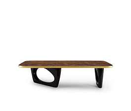 Sherwood Rectangular Coffee Table Mid Century Modern Design by BRABBU is a wood coffee table ideal for a modern home decor.