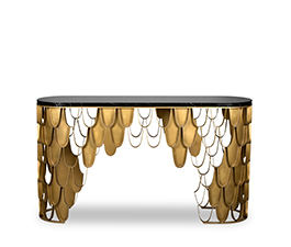 KOI | Brass Console Table Contemporary Design by BRABBU