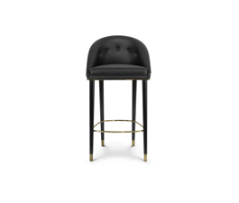 MALAY Bar Chair Mid Century Design by BRABBU is a velvet bar stool with a mystical soul.