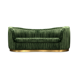 DAKOTA | Velvet Sofa Modern Contemporary Furniture by BRABBU