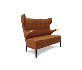 SIKA | 2 Seat Sofa Mid Century Modern Furniture by BRABBU