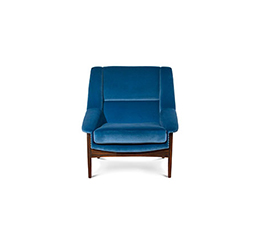 INCA Armchair Mid Century Modern Design by BRABBU recalls the Inca Empire in the shape of a velvet armchair.