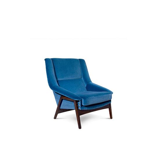 INCA Armchair Mid Century Modern Design by BRABBU recalls the Inca Empire in the shape of a velvet armchair. [object object] 10 elegante Einrichtungsideen für das Wohnzimmer Dekor inca armchair 2 HR