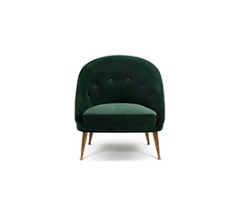 MALAY Mid Century Design by BRABBU is a velvet armchair that will fulfill your living room set with nature's energy.