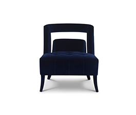NAJ Armchair Contemporary Design by BRABBU is a velvet armchair that will conquer all the living room sets.