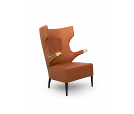 SIKA Wing Chair Mid Century Modern Furniture by BRABBU is an imposing piece in any modern home decor.