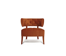 ZULU Armchair Mid Century Modern Furniture by BRABBU brings prestige to any living room set.