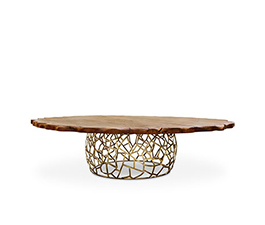 APIS | Round Dining Table Mid Century Modern Design by BRABBU