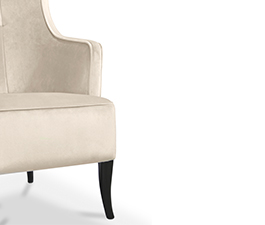 IGUAZU Wing Chair Mid-Century Modern Furniture by BRABBU is living room furniture piece ideal for a modern home decor.