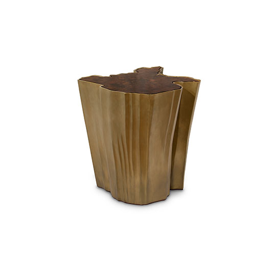 SEQUOIA Big Side Table Modern Design by BRABBU is a living room furniture piece ideal for a modern home decor.  Adler Lodge Ritter: Chalet-Design inmitten schönster Naturlandschaft sequoia side table big 1 HR