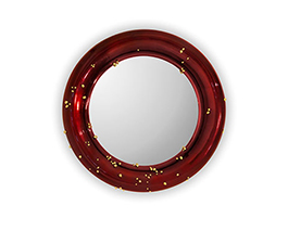 BELIZE Round Mirror Modern Design by BRABBU reflects a set of emotions in a modern home decor.