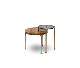 LURAY | Brass Side Table by BRABBU