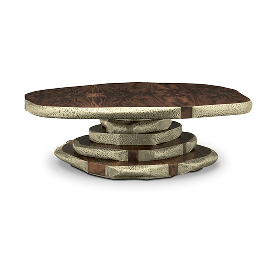 LATZA | Walnut Root Veneer Center Table Modern Design by BRABBU   Adler Lodge Ritter: Chalet-Design inmitten schönster Naturlandschaft latza center table 3 540x505