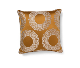 Versailles Yellow | Cotton Classic Design Pillow by BRABBU