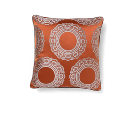 Versailles Orange | Satin Classic Design Pillow by BRABBU