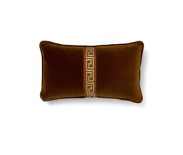 Labyrinth Brown | Velvet Classic Design Pillow by BRABBU