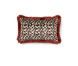 ALBUS RED | Eclectic Design Pillow by BRABBU