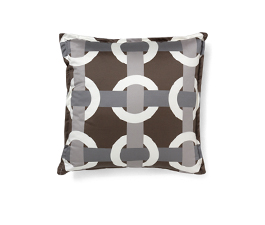 BOWLINE BROWN | Geometric Design Pillow by BRABBU