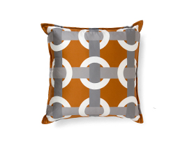 BOWLINE ORANGE| Geometric Design Pillow by BRABBU