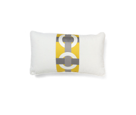 BOWLINE YELLOW | Geometric Design Pillow by BRABBU
