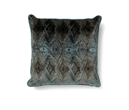 PEAFOWL I BLUE | Eclectic Design Pillow by BRABBU