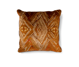 PEAFOWL ORANGE | Eclectic Design Pillow by BRABBU