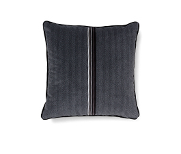 Versicolor Black  | Velvet Geometric Design Pillow by BRABBU