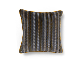 Versicolor Brown | Velvet Geometric Design Pillow by BRABBU