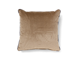 Villutus Brown | Velvet Geometric Design Pillow by BRABBU