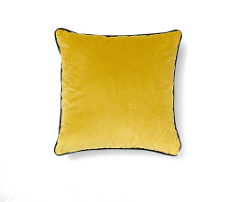 Villutus Yellow | Velvet Geometric Design Pillow by BRABBU
