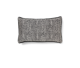 Wachuma Black | Twill Geometric Design Pillow by BRABBU