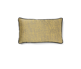 Wachuma Yellow | Twill Geometric Design Pillow by BRABBU
