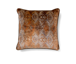PEAFOWL I ORANGE | Eclectic Design Pillow by BRABBU