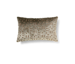 Zellige Brown | Twill Geometric Design Pillow by BRABBU