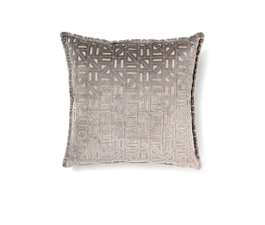 Zellige Grey | Velvet Geometric Design Pillow by BRABBU