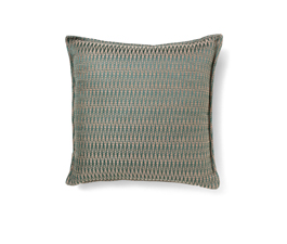 Timberline Blue | Cotton Geometric Design Pillow by BRABBU
