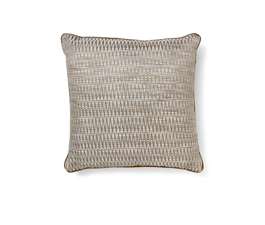 Timberline Brown | Cotton Geometric Design Pillow by BRABBU