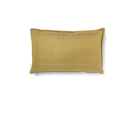 Timberline Yellow | Twill Geometric Design Pillow by BRABBU