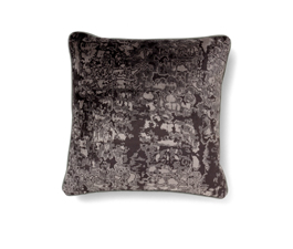Wallingford Black | Twill Ecletic Design Pillow by BRABBU