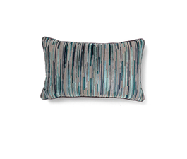 Tapestry Blue | Twill Geometric Design Pillow by BRABBU