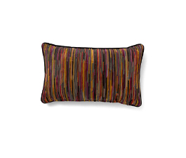 Tapestry Rainbow | Twill Geometric Design Pillow by BRABBU